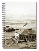 First Cliff House  View Of Ropes From The Cliff House To Seal Rock Circa 1865 Spiral Notebook