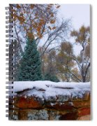 First Colorful Autumn Snow Spiral Notebook