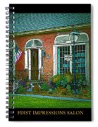 First Impressions Salon In Woodstock Vermont Spiral Notebook