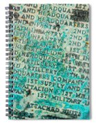 First Infantry Division Memorial Plaque Spiral Notebook