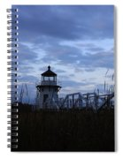 Daybreak At Doubling Point Light  Spiral Notebook