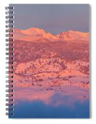 First Light Colorado Rocky Mountains Panorama Spiral Notebook