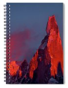 First Light On Cerro Torre - Patagonia Spiral Notebook