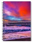 First Light On The Beach Spiral Notebook