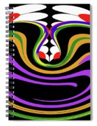 First Move Abstract Spiral Notebook