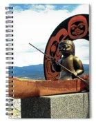 First Nation Sculpture Spiral Notebook