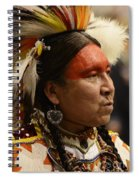 Pow Wow First Nations Man Portrait 1 Spiral Notebook