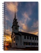First Parish Church In Milton Massachusetts Sunset Spiral Notebook