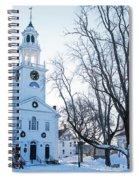 First Parish Church Manchester Ma North Winter Snow Spiral Notebook