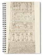 First Side Of Obelisk, Illustration From Monuments Of Nineveh Spiral Notebook