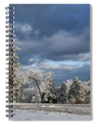 First Snow Of The Year Spiral Notebook
