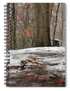 First Snowfall - A Walk In The Woods Spiral Notebook