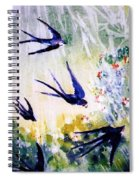 First Swallows Of Summer  Spiral Notebook