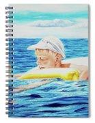 First Swimming - Nadar Primero Spiral Notebook