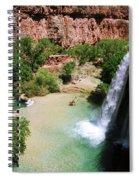 First View Of Havasu Falls Spiral Notebook