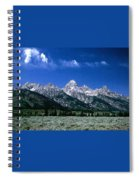 First View Of Tetons Spiral Notebook