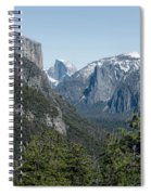 First View Of Yosemite Valley Spiral Notebook