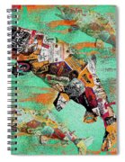 Fish And Bourbon Spiral Notebook