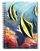 Moorish Idol Fish And Coral Reef Spiral Notebook