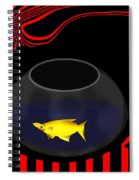 Fish In A Bowl Spiral Notebook