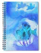 Fish In Blue Spiral Notebook