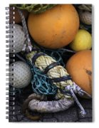 Fish Netting And Floats 0129 Spiral Notebook