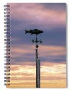 Fish Weather Vane At Sunset Spiral Notebook