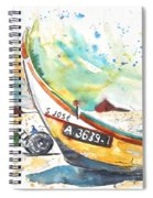Fisherboat In Praia De Mira Spiral Notebook