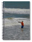 Fisherman And The Sea Spiral Notebook