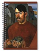 Fisherman Boris Grigoriev Spiral Notebook