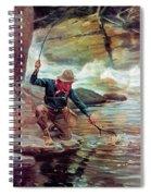 Fisherman By Stream Spiral Notebook