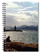 Fisherman In Nice France Spiral Notebook