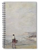 Fisherman In Villerville Spiral Notebook