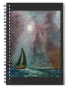 Fisherman Under Full Moon Spiral Notebook