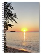 Fisherman's Island Sunset Spiral Notebook