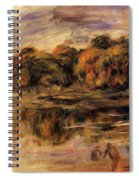 Fishermen By A Lake Spiral Notebook