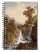 Fishermen By The Waterfall Spiral Notebook