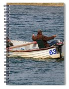 Fishermen In A Boat Spiral Notebook