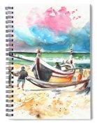 Fishermen In Praia De Mira 03 Spiral Notebook