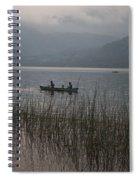 Fishermen On Lake Atitlan Spiral Notebook