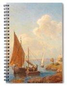 Fishermen On The Dalmatian Coast Spiral Notebook