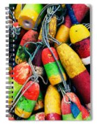 Fishermen's Floats Spiral Notebook