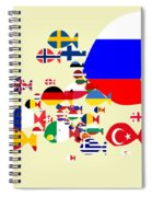 Fishes Map Of Europe Spiral Notebook