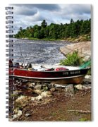 Fishing And Exploring Spiral Notebook