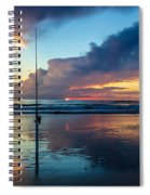 Fishing And Watching The Sunrise Spiral Notebook