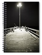 Fishing At Night Spiral Notebook