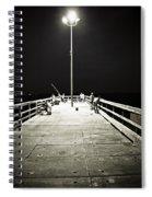 Fishing At Night Spiral Notebook