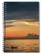 Fishing At Sunrise Spiral Notebook