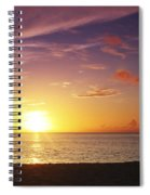 Fishing At Sunset Spiral Notebook