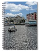Fishing At The Boardwalk Before The Storm Spiral Notebook